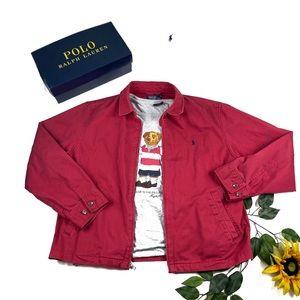 Polo Ralph Lauren Bayport Canvas Jacket XL red